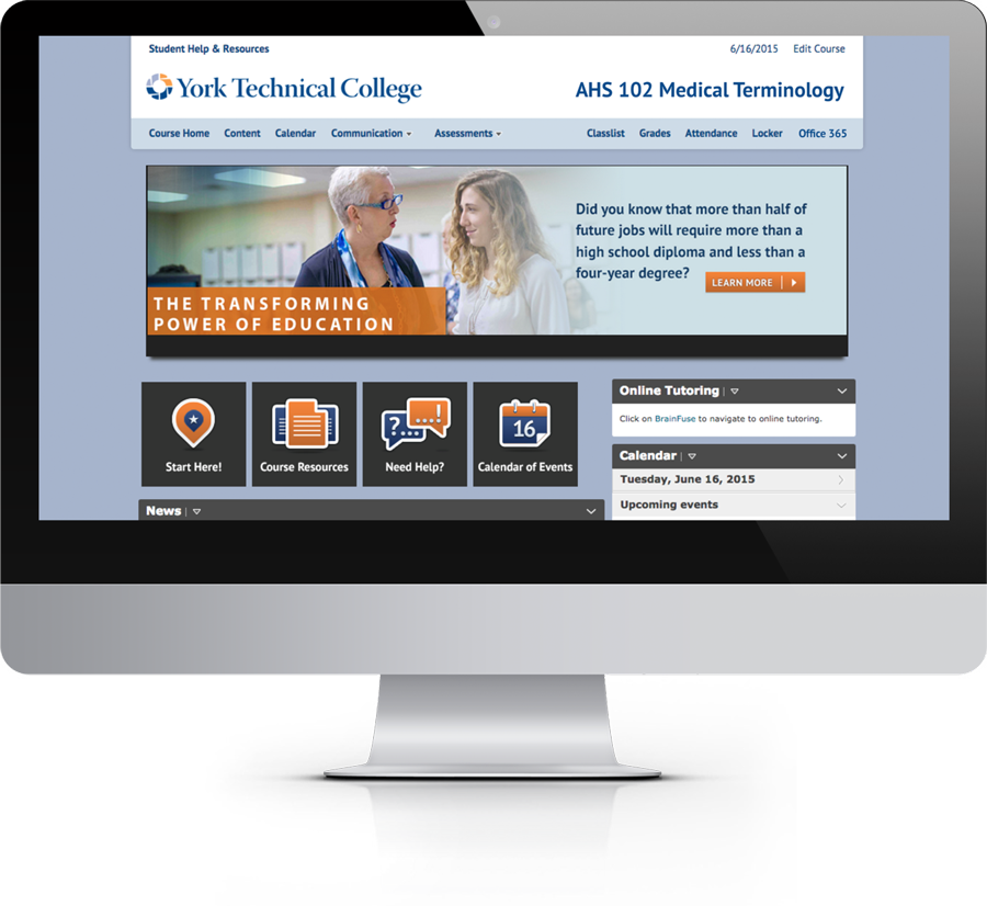 online course design template d2l