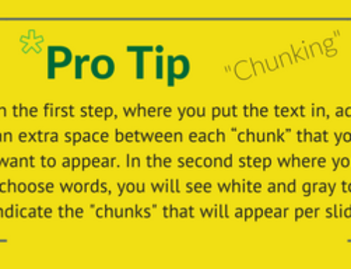 Pro Tip: Chunking