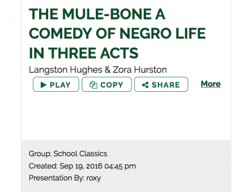 The Mule Bone BYOD Read Ahead Presentation