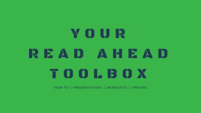 your read ahead toolbox