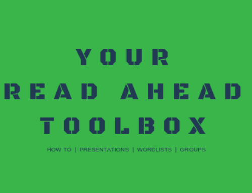 Your Read Ahead Toolbox