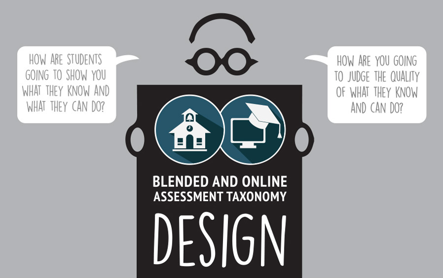 blended and online assessment taxonomy design