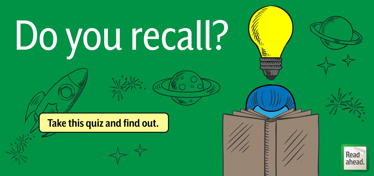 QUIZ: Do you recall? Take this recall quiz and find out.