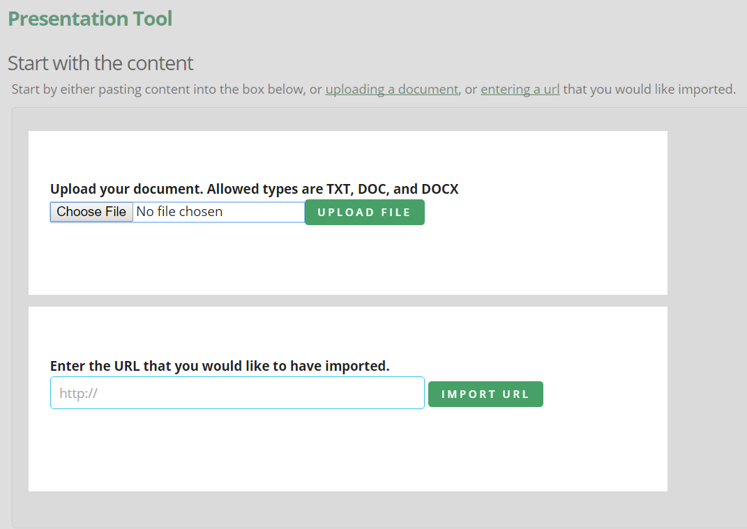 Read Ahead Version Document Upload and URL Import