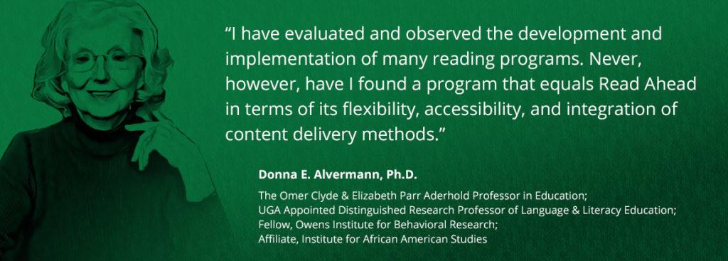 Donna Alvermann testimonial