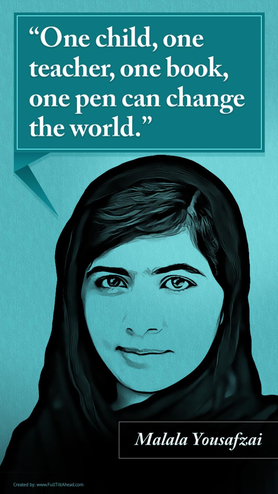 malala yousafzai change the world