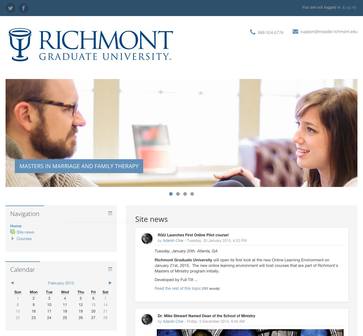 Custom Moodle implementation for Richmont Graduate University