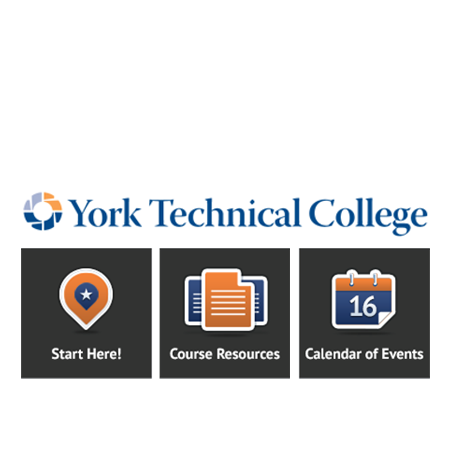 Custom LMS Course Template Design and Implementation for York Tech
